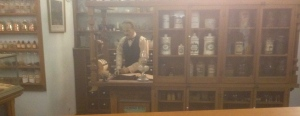 A recreated turn of the century pharmacy...