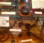 Artifacts like these original hearing-aid devices...