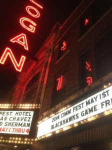 Back to Logan Square Theater for a CIMM FEST film.