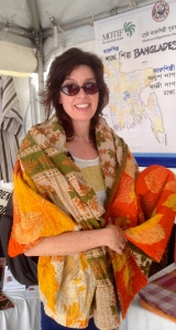 No pressure what-so-ever! I was privileged to purchase this lovely throw from Motif  in Bangladesh.