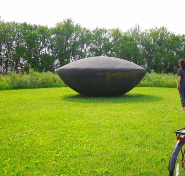 Flying Saucer 1977 Artist: Jene Highstein