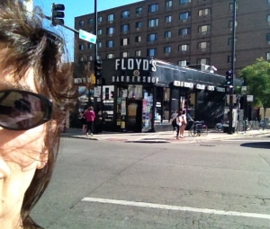 Floyd's 99 Barbershop at 2572 N Clark Street…ok a haircut, why not?!