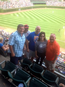 My new baseball friends. These Cubs fans have been  have been coming together together for 20 years to support their team.