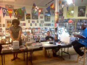 The very cool and helpful dudes at Brainstorm Movies, Comics & Games, The Flatiron Building, 1579 N. Milwaukee Ave., Suite 321
