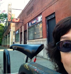 Riding on, a stop at The Rainbow Club 1150 N. Damen.