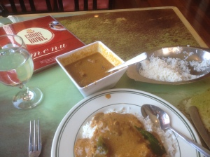 All this exploring led to delicious meal of Madrasi chicken at the Curry Bowl.