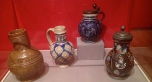 Exquisite 17th century jugs.
