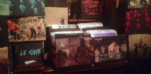 Le Cave Records + Crates, super kewl hand crafted and screen printed crates.
