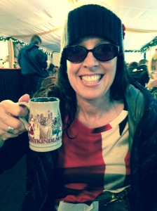 A mug of spiced wine at the Christkindlmart at Daly Plaza...