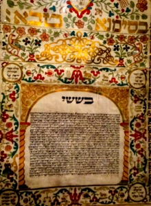 A 1721 Ketubah, a Jewish marriage contract or prenuptial.