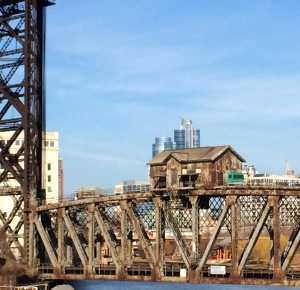 A quick snap on the bridge at S. Canal leaving Chinatown