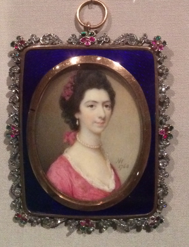 Nathaniel Hone Portrait of Sarah Sophia Banks gouache on ivory 1768