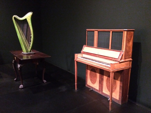 Portable Harp about 1820 Upright Piano about 1790