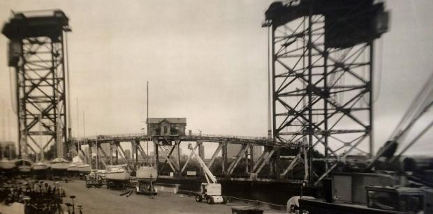 Chicago River Lumbar Street Bridge 2014 Gelatin Silver Print