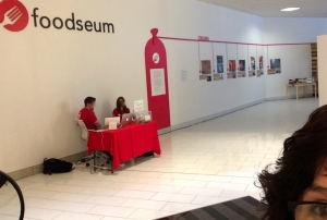 "What's this?! Why Foodseum Chicago, a nonprofit with a mission to ""learn about, celebrate and be inspired by food."" Located on the second floor of Block Thirty Seven at 109 N. Dearborn will exhibit, The Hot Dog and Encased Meat of the World until December 20, 2015"