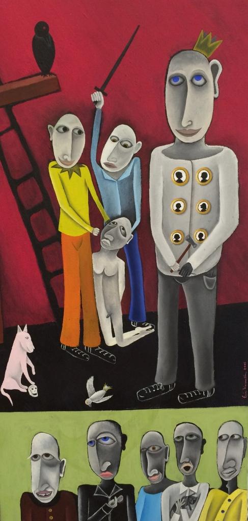 Eric Weinstein R U Passionate oil on canvas