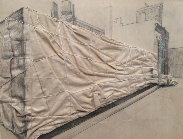 Christo, Museum of Contemporary Art Packed (Chicago)-Project for January-March 1969
