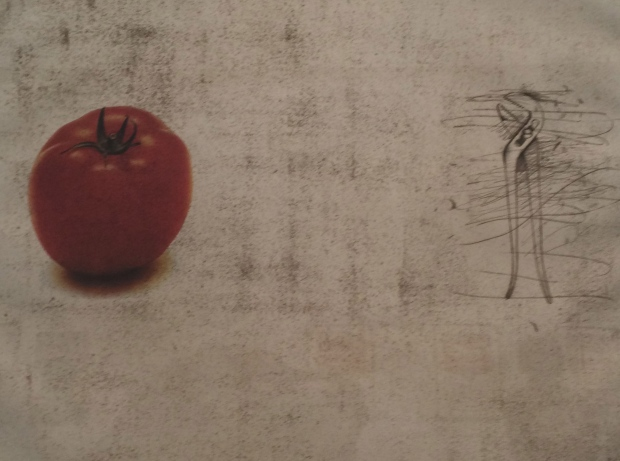 Jim Dine, The Tomato, 1973, lithograph and etching on paper