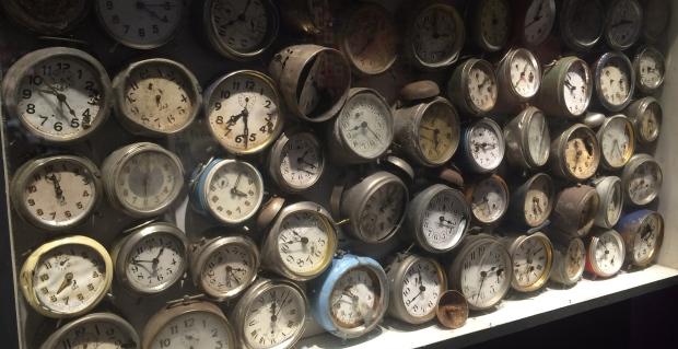 Arman, alarm Clocks, 1960, alarm clocks in painted wood box