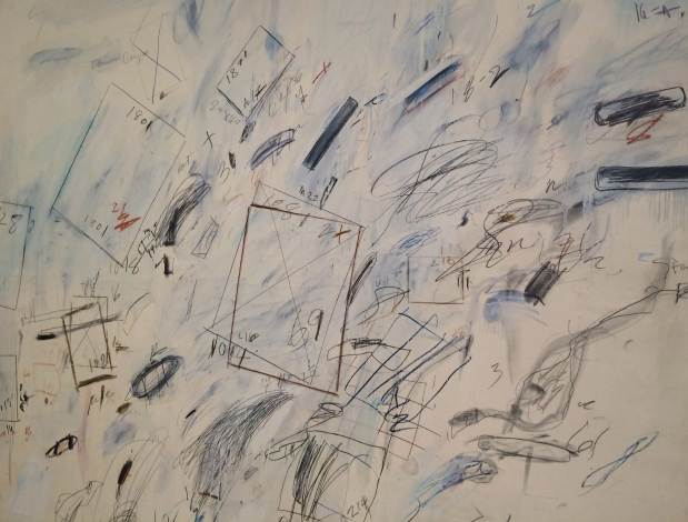 Cy Twombly, Untitiled (Bolsena), 1969, oil-based house paint, wax crayon, and graphite on canvas