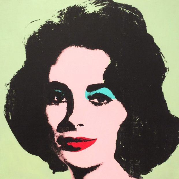 Andy Warhol, Liz #3 (Early Colored Liz), 1963, acrylic and silkscreen ink on linen.