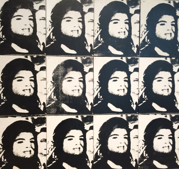 Andy Warhol, Twelve Jackies, 1964, silkscreen ink on linen; 12 joined canvases