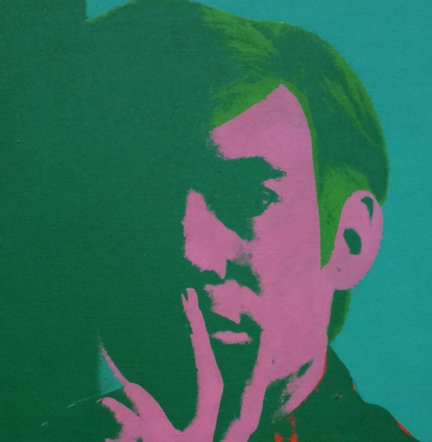 Andy Warhol, Self-portrait, 1966, acrylic, silkscreen ink, and pencil on linen