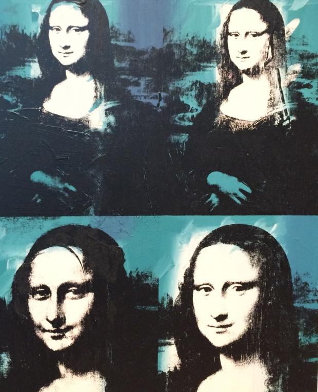 Four Mona Lisas, 1978, acrylic and silkscreen ink on linen