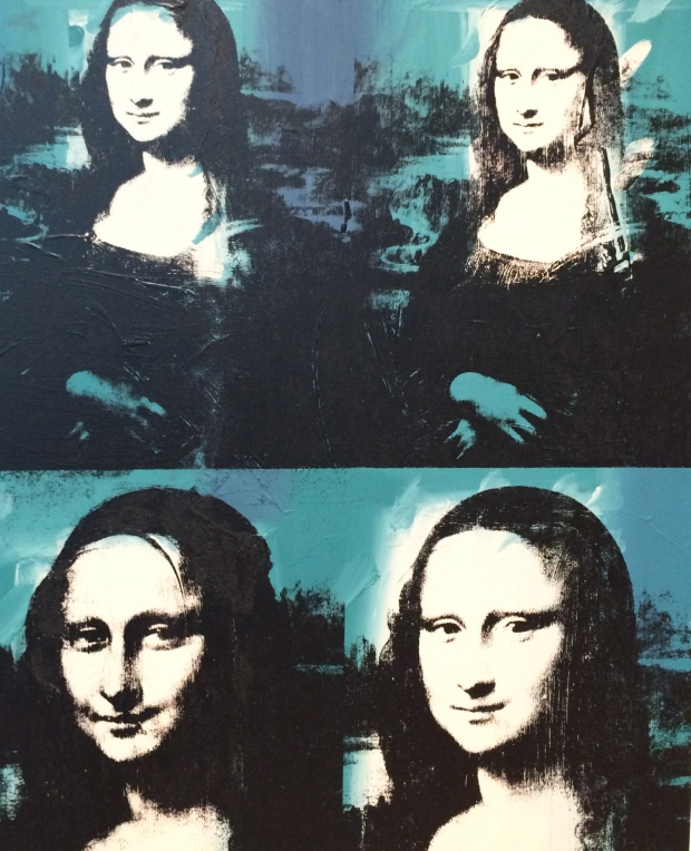 Four Mona Lisas, 1978, acrylic and silkscreen ink on linen