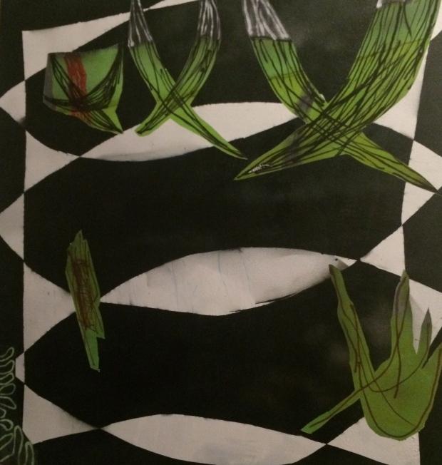 Bryce Walborn, Untitled, acrylic, ink, silicon on canvas, 2015