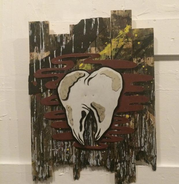 Kneedy, Distance, found wood, found metal, found paint, 2015