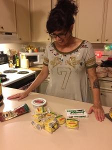 Ingredients- Mascarpone Cheese, Cranberries, Banana Moon Pies, Jr. Mints