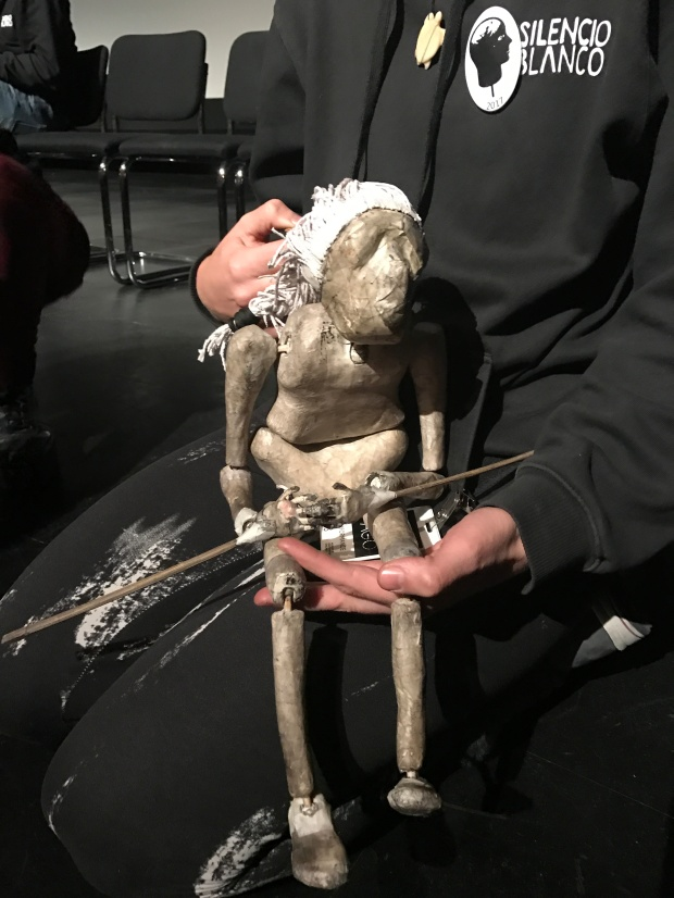 Hand made from newspaper, each puppet was incredibly personal, expressive, and full of life.